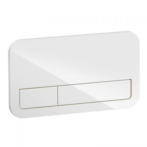 ViConnect Flush plate White Glass 922400RB