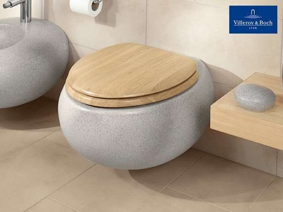 villeroy boch pure stone toilet seat 98m1 s1 villeroy. Black Bedroom Furniture Sets. Home Design Ideas